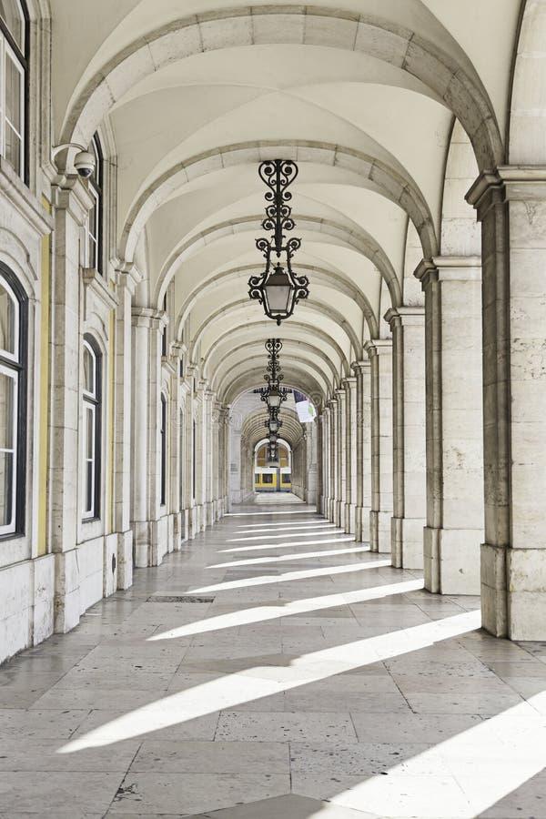 Utdrag från en fyrkant av Lissabon arkivfoton