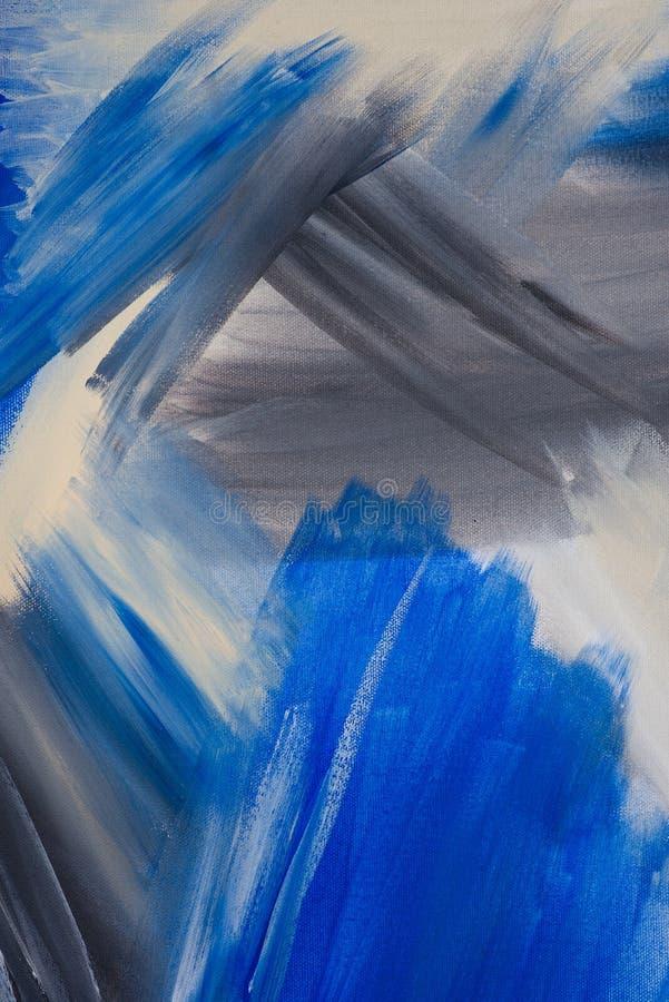 Utdragen akrylmålning för original- hand på kanfas Samtida konst arkivbilder