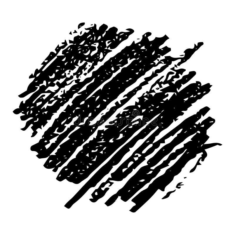 Utdragen blyertspenna f?r hand att klottra fl?ck stock illustrationer