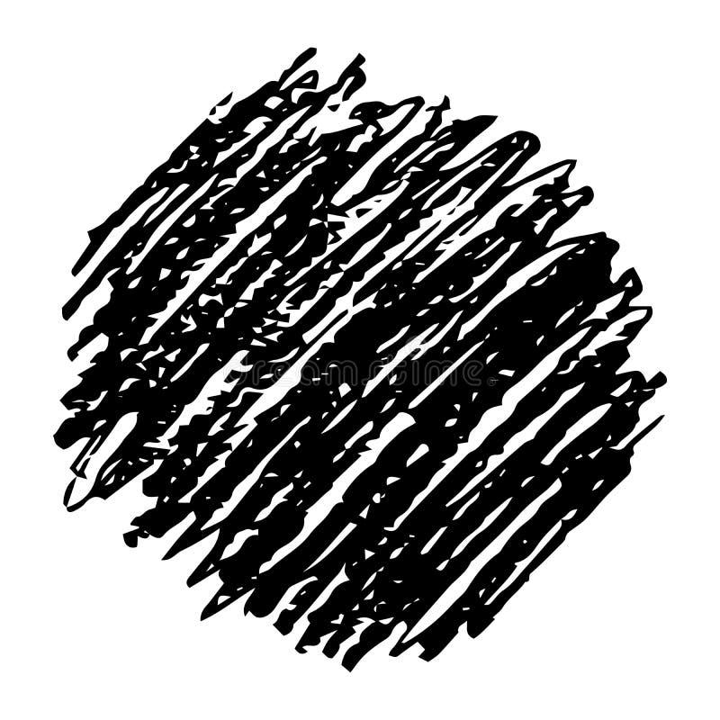 Utdragen blyertspenna f?r hand att klottra fl?ck vektor illustrationer