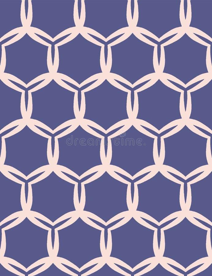 Utdragen damast cirkelmodell för hand S?ml?s bakgrund f?r sommarvektor Moderiktig celtic stjärnafnurenillustration Modernt klassi vektor illustrationer