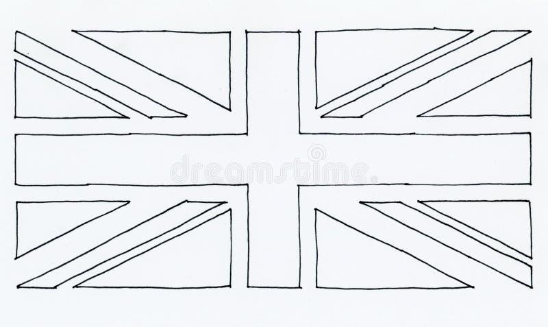 utdragen flagga för hand av Förenade kungariket (UK) aka Union Jack textur vektor illustrationer
