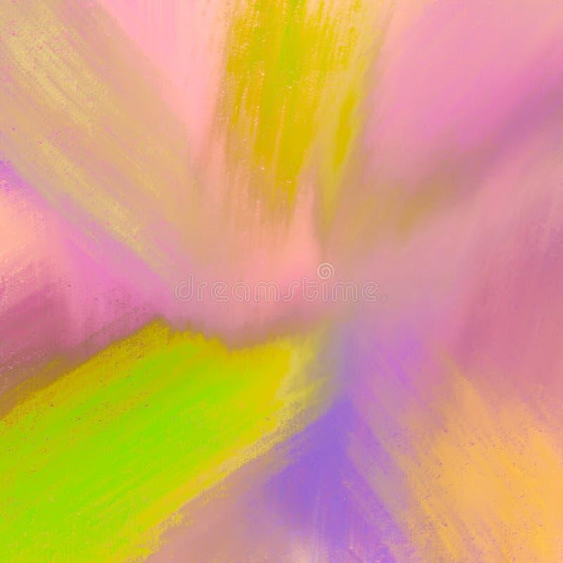 Utdragen grungemålning för hand För skinande abstrakt bakgrund borsteslaglängder för tappning Bra för: affisch kort, dekor stock illustrationer