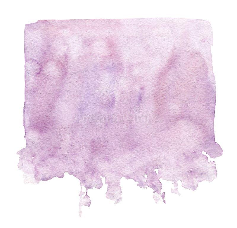 Utdragen rosa vattenfärgfärgstänk för hand som isoleras på vit bakgrund royaltyfri illustrationer