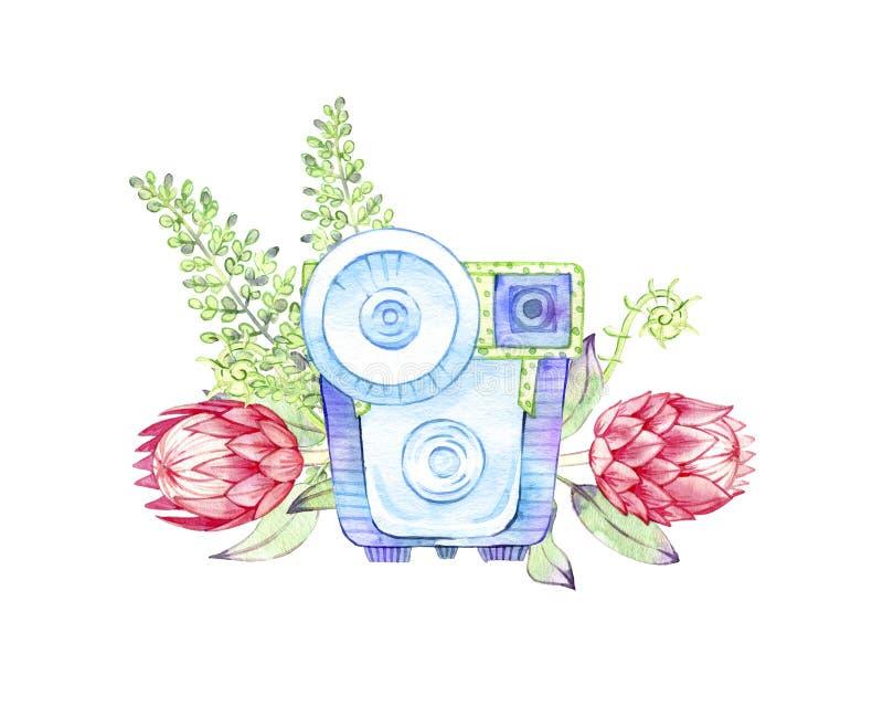 Utdragen vattenf royaltyfri illustrationer