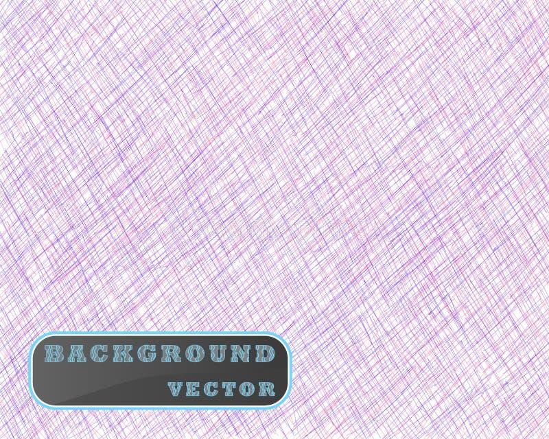 Utdraget kläcka för hand Sneda röda och blåa fina linjer, klottrar, klottrar, bestryker Vektorsamkopiering Isolerad bakgrund vektor illustrationer