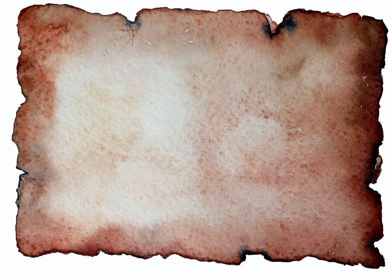 Utdraget mellanrum för hand av papper i forntida stil royaltyfri illustrationer