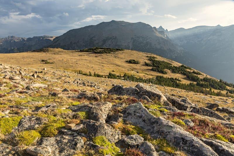 Ute Trail Tundra och stenmaximum fotografering för bildbyråer