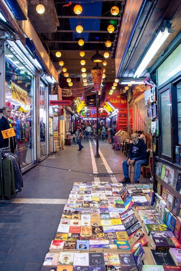 Uteliv på den Souk marknaden i Amman, Jordanien arkivbilder