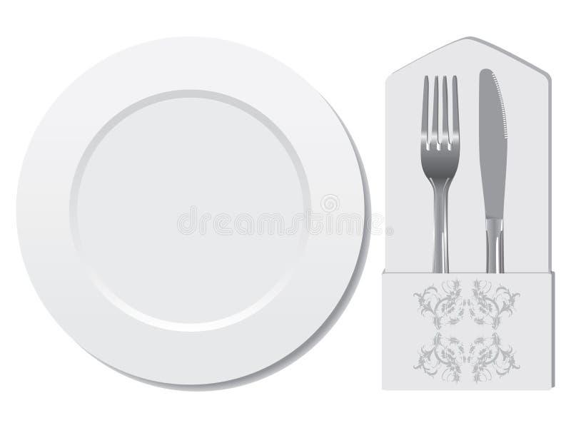 Utensílio do restaurante ilustração stock