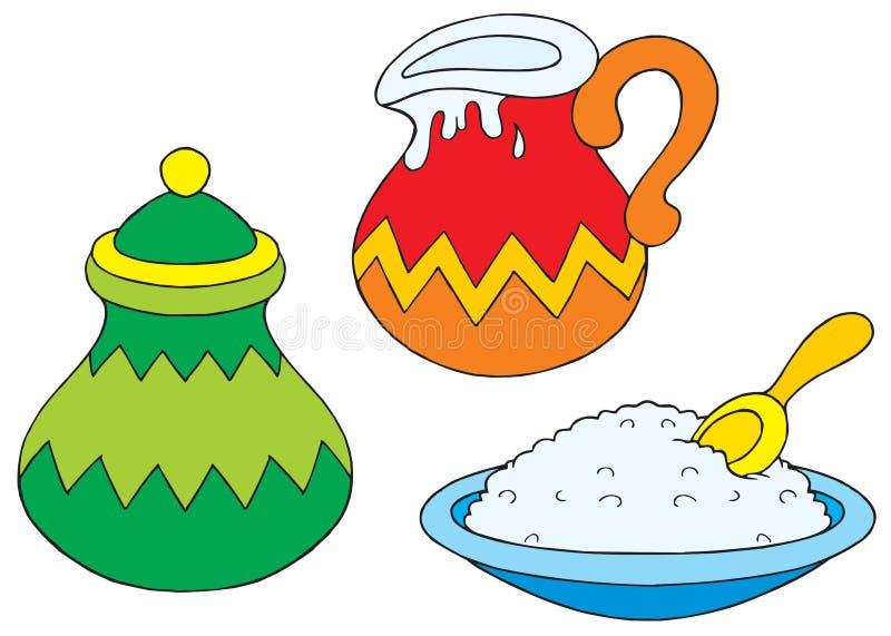 Utensílios da cozinha ilustração stock