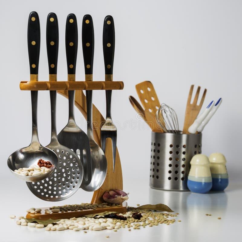 Utensílios da cozinha fotografia de stock