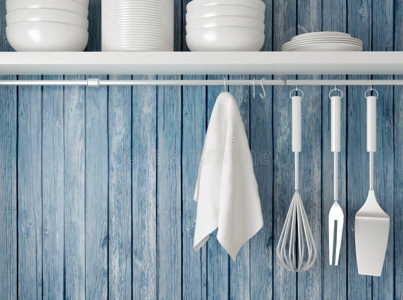 Utensílios de cozimento da cozinha fotos de stock royalty free