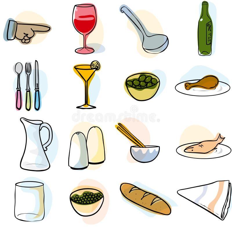 Utensílios de mesa ilustração stock