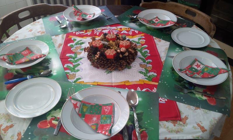 Utensílios de mesa do Natal foto de stock royalty free