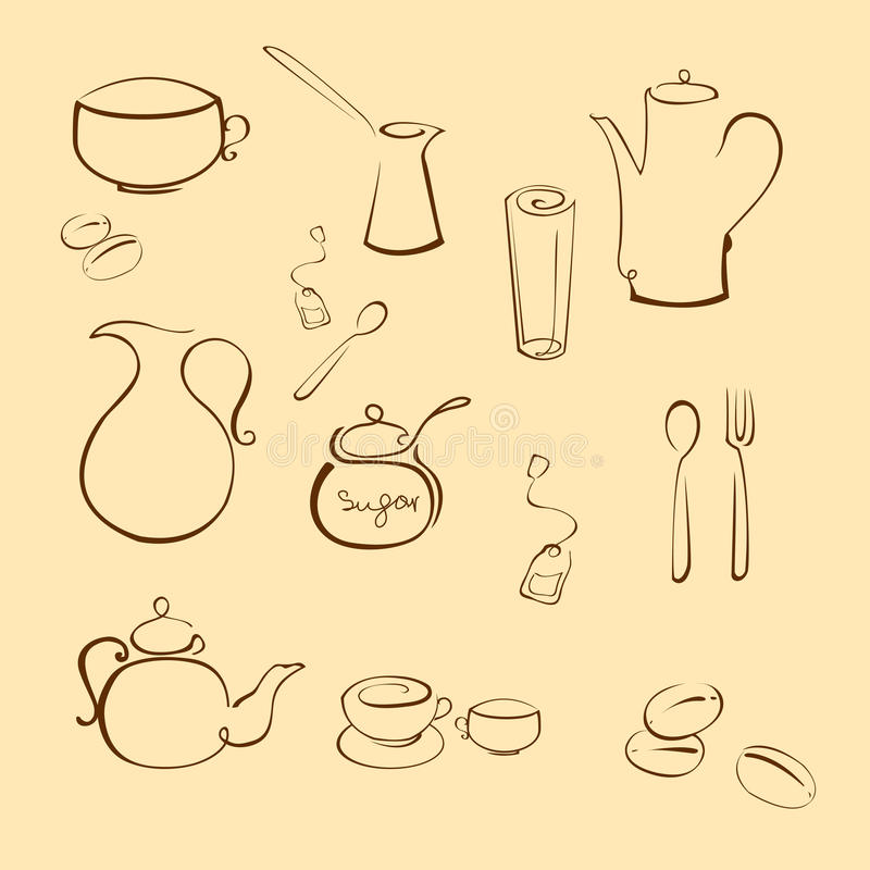 Utensi de la cocina libre illustration