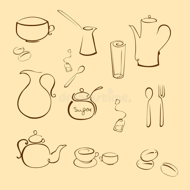 Utensi della cucina royalty illustrazione gratis