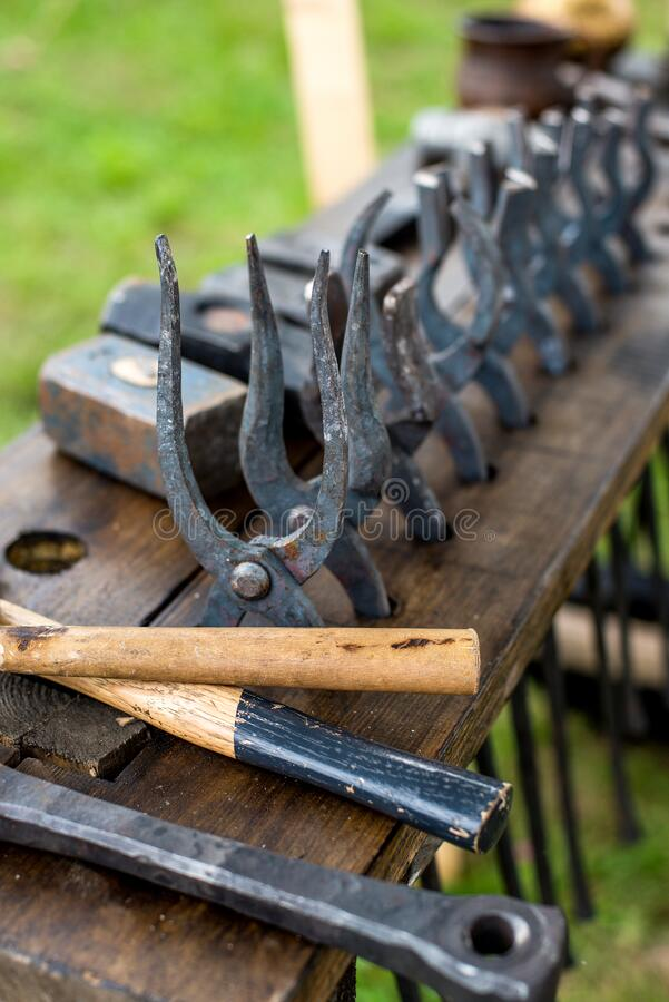Utensili Blacksmith immagine stock