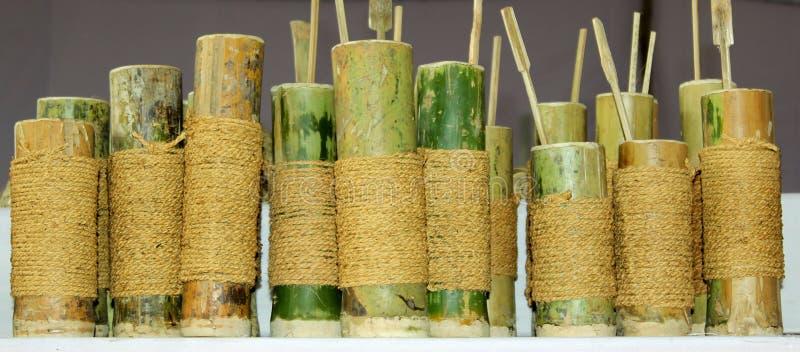 Utensilios de bambú imagen de archivo libre de regalías