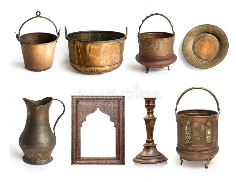 Utensilios de cobre antiguos foto de archivo imagen de for Utensilios antiguos de cocina