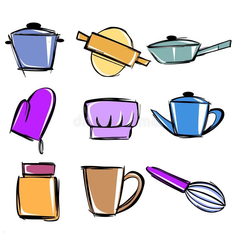 Utensilios de cocina ilustraci n del vector ilustraci n for Utensilios de cocina fondo