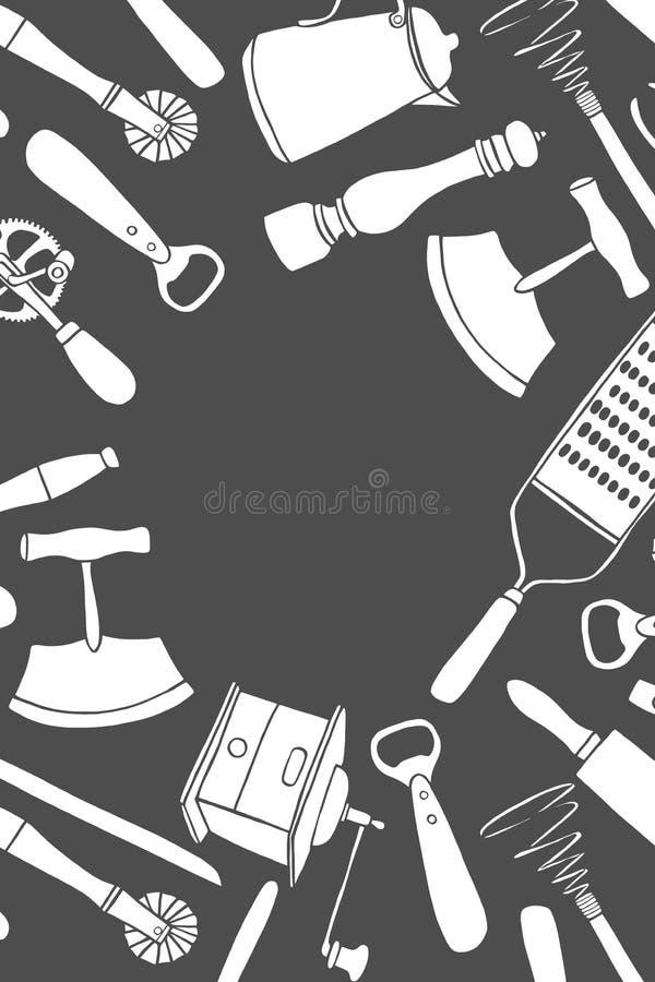 Utensilios de la cocina fijados libre illustration