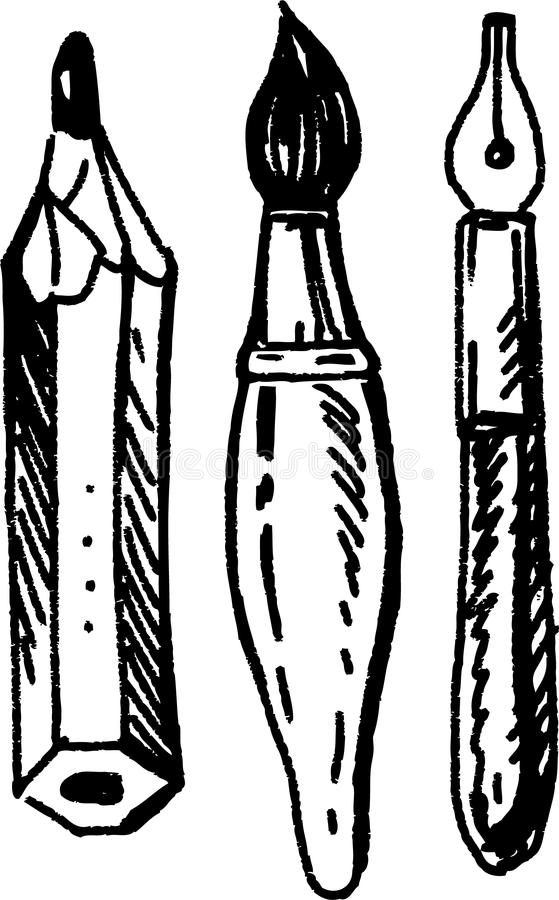 Utensilios de la escritura libre illustration