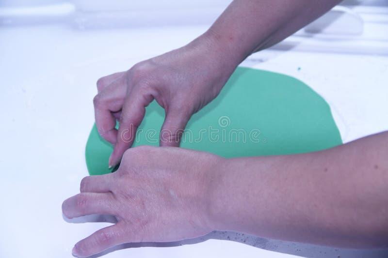Utensilios de la panadería que preparan el sao superficial harinoso Paulo Brazil de la receta de la goma de la goma imagen de archivo libre de regalías