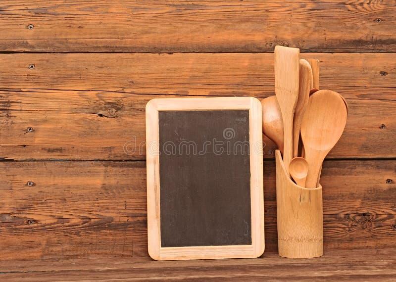 Utensilios de madera imagen de archivo libre de regalías