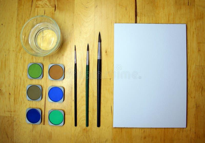 Utensilios a dibujar imagen de archivo