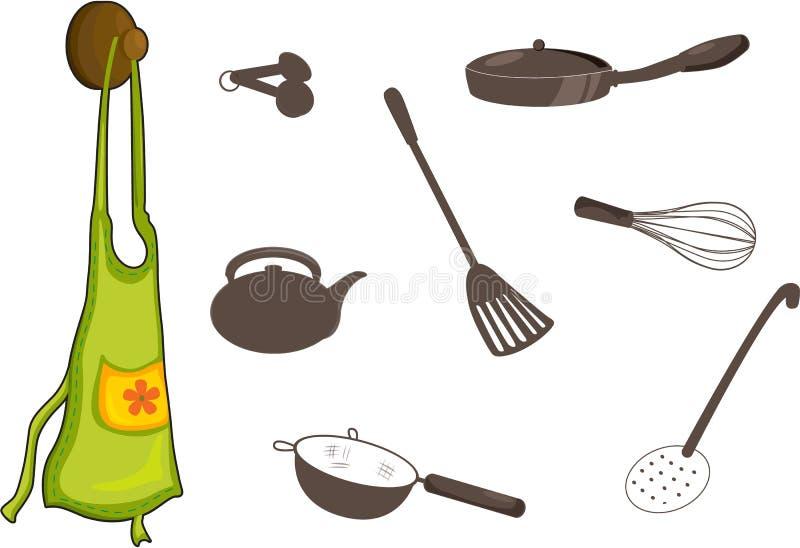 utensils vektor illustrationer