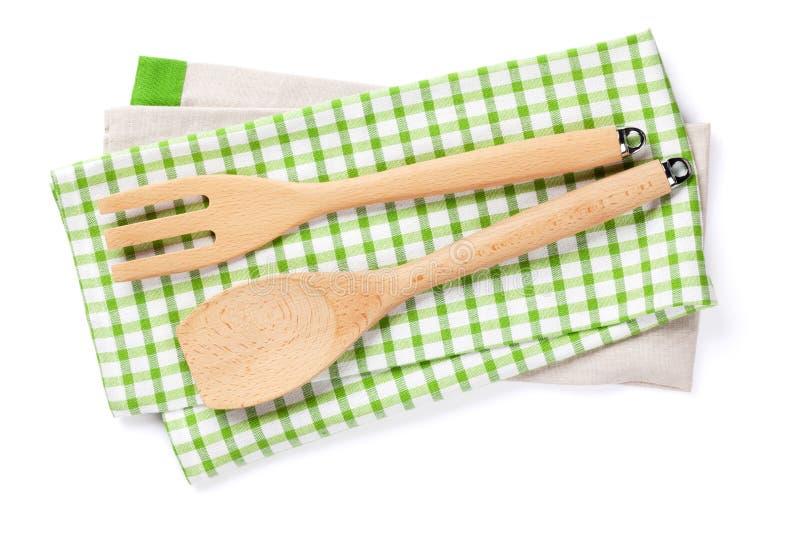 utensils för service för anddatalistkök trevliga isolerat royaltyfri foto
