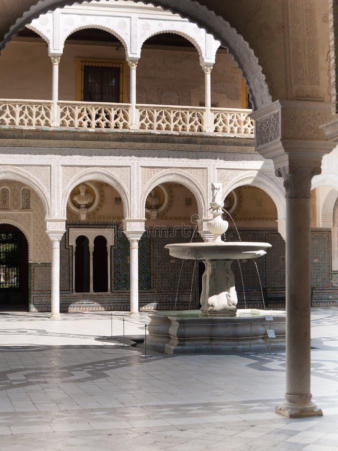 Download Uteplats Av Casa De Pilatos, Seville Fotografering för Bildbyråer - Bild av clear, skulptur: 27284331