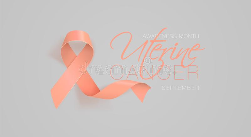 Uterine Cancer Awareness Calligraphy Poster Design. vector illustration
