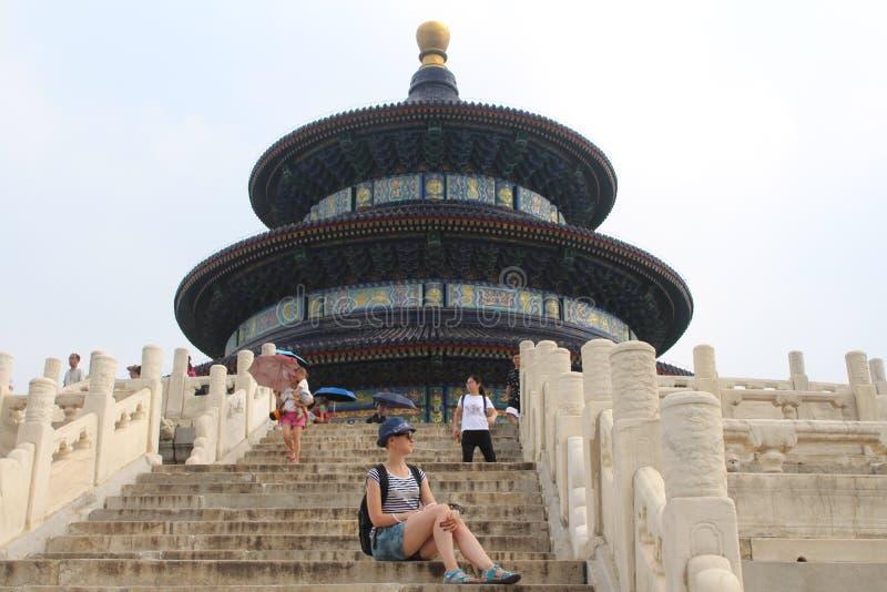 Utfärd till templet av himmel, ett av symbolerna av Peking royaltyfria bilder