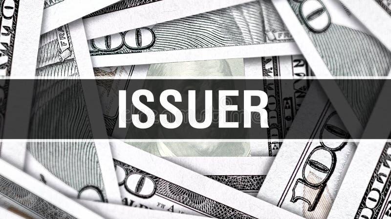UtfärdareCloseupbegrepp Amerikanska dollar kontanta pengar, tolkning 3D Utfärdare på dollarsedeln Finansiell USA pengarsedel Comm vektor illustrationer