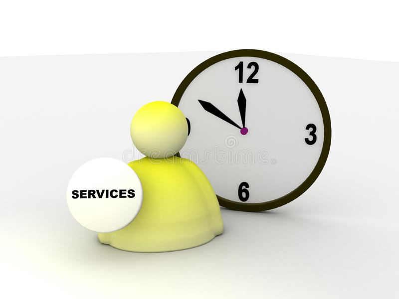 utför service tecknet vektor illustrationer