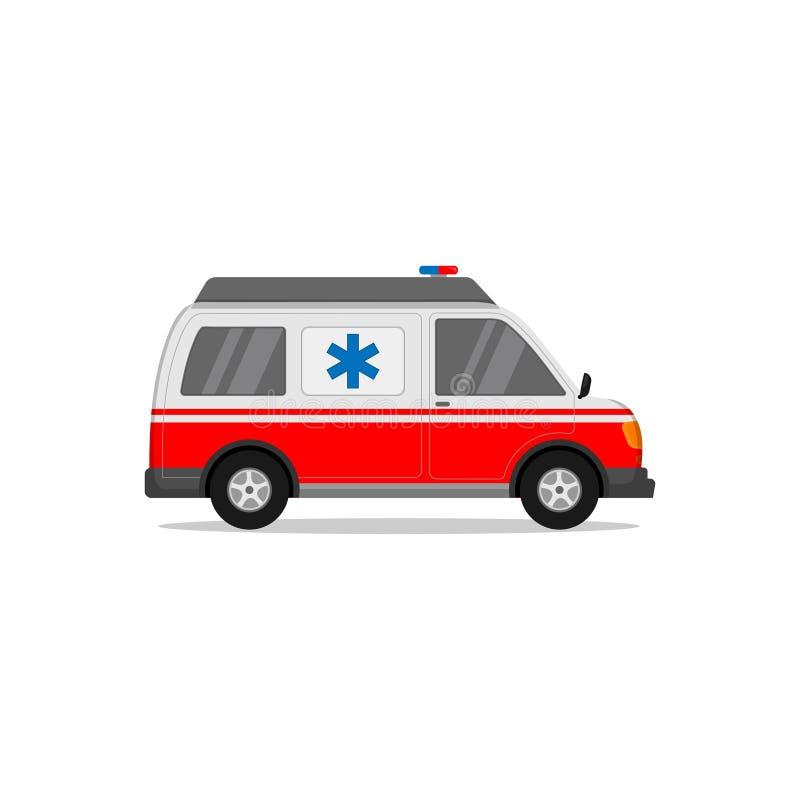 utformning av ambulansvektor i vitt och rött royaltyfri fotografi