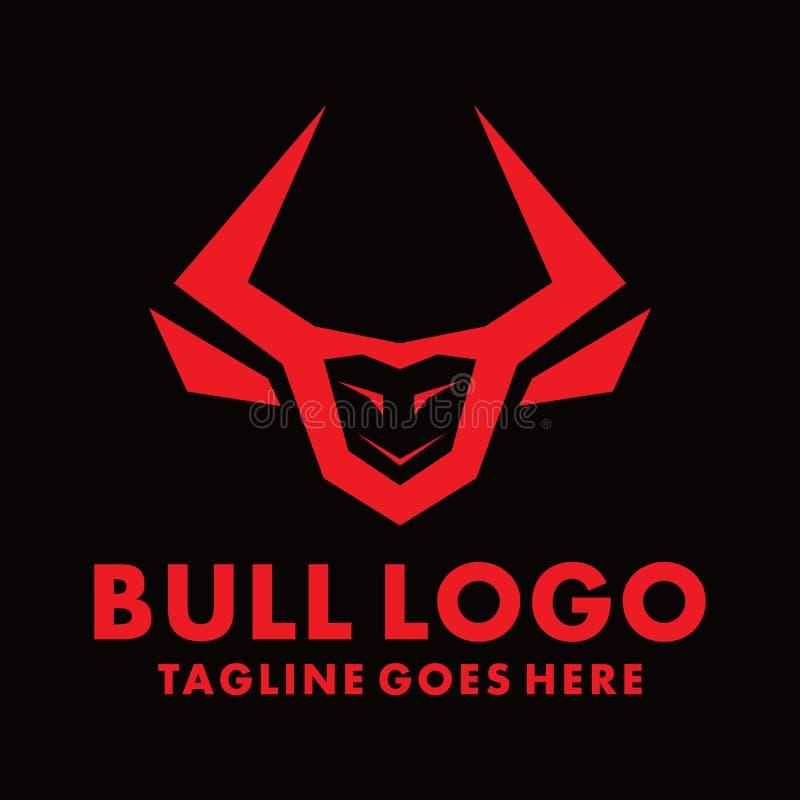 Utformning av Bull-logotypen för företag och företag stock illustrationer