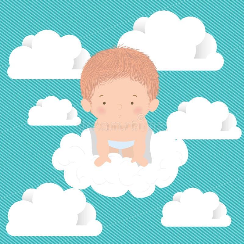 Utformning av vektorvektorn för spädbarn och moln vektor illustrationer
