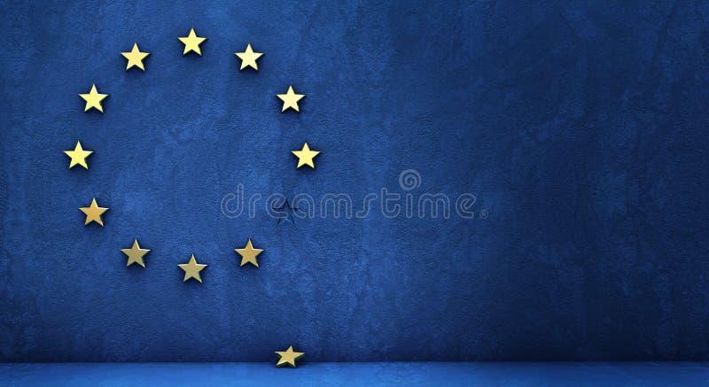 Utgång från eurogruppen vektor illustrationer