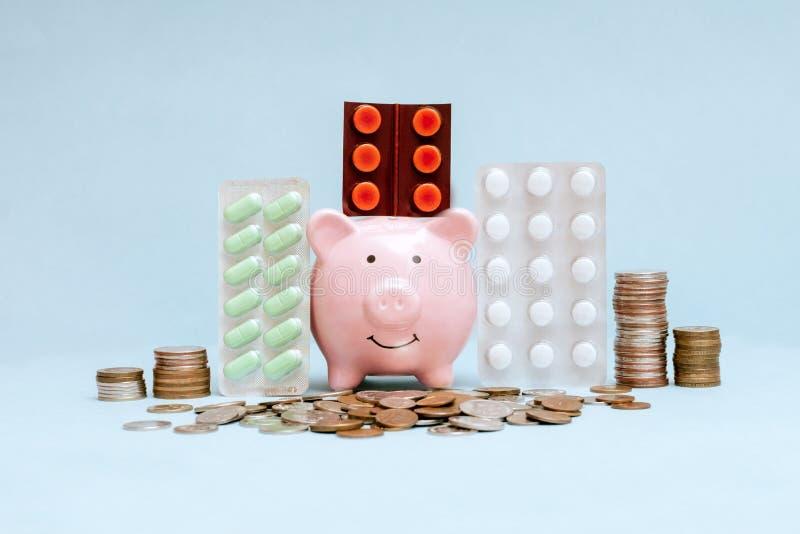 Utgifter på hälsovård fotografering för bildbyråer