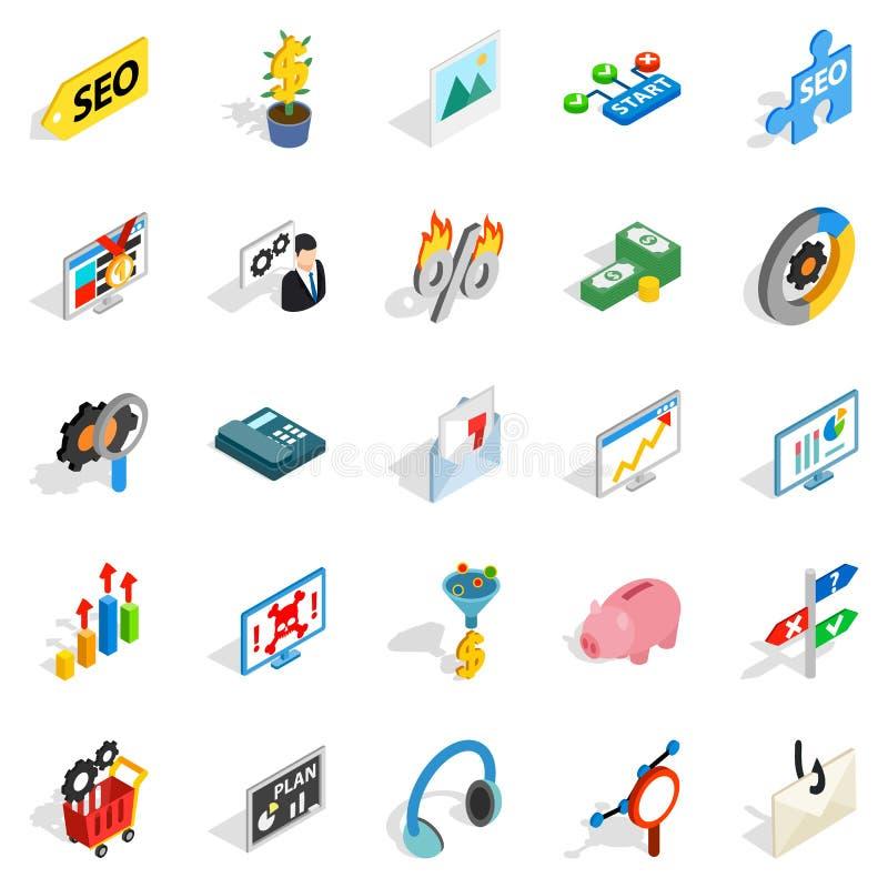 Utgifter på internetsymbolsuppsättningen royaltyfri illustrationer