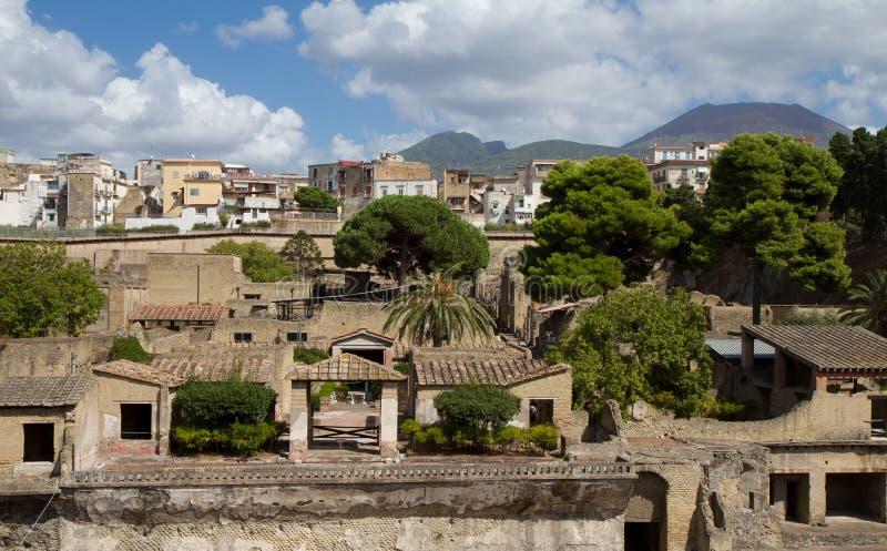 utgrävning herculaneum royaltyfri fotografi