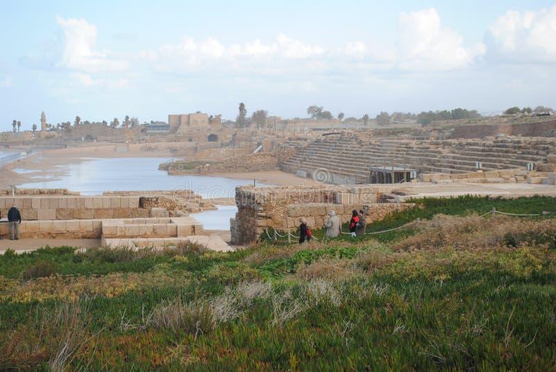 Utgrävningar av den gamla staden arkivfoton