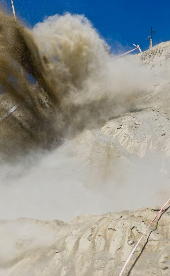 utgrävningexplosion royaltyfria foton