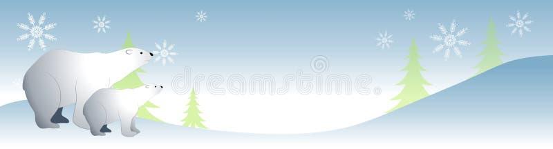 uthärdar polar snow royaltyfri illustrationer