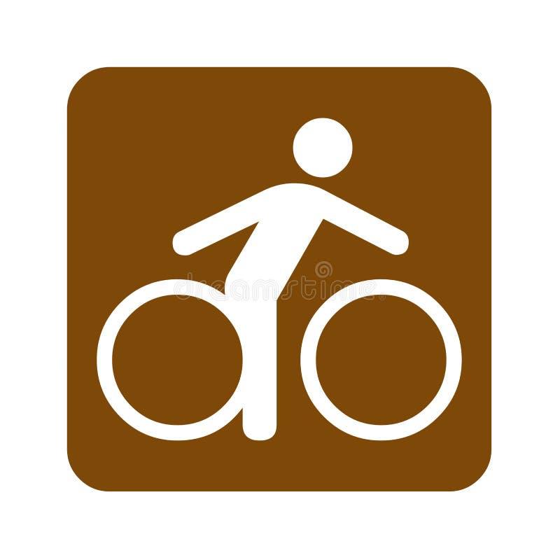 Uthyrnings- fritids- tecken för brun cykel stock illustrationer