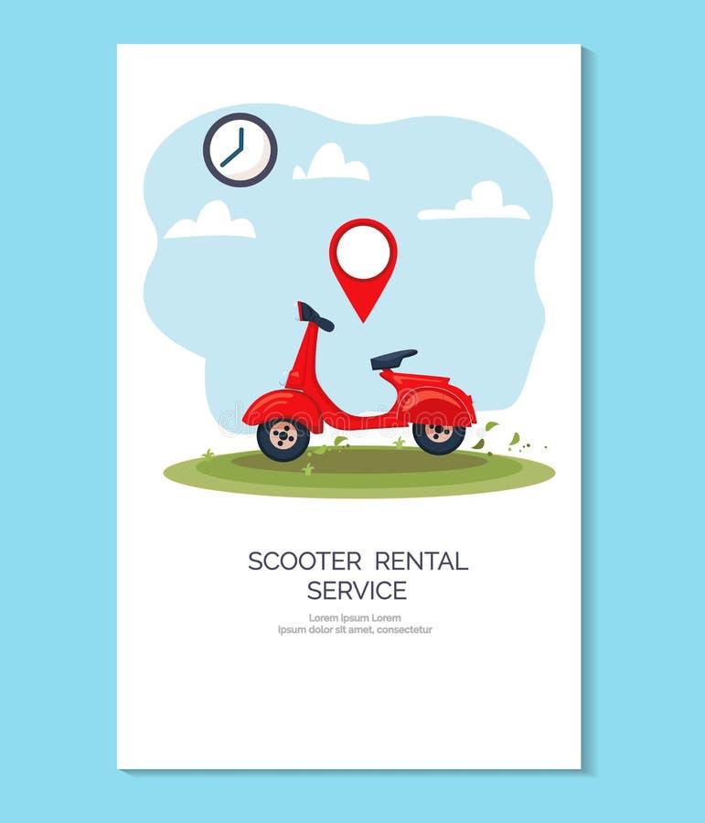 Uthyrnings- service f stock illustrationer