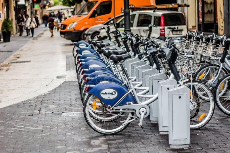Uthyrnings- station för cykelaktie royaltyfri fotografi
